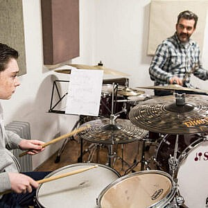 2 Drum Lessons + CSL Sticks Bundle