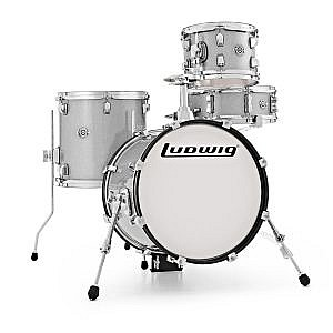 Ludwig Breakbeats Kit by ?uestlove - White Sparkle