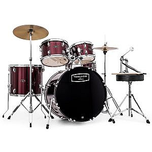 "Mapex Tornado Kit (20"" Kick) Burgundy (+Lessons Option)"